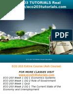 ECO 203 TUTORIALS Real Education-eco203tutorials.com
