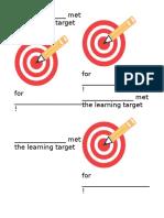 learning target awards