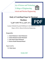 Study of Centrifugal Sugar by Electrical Machines