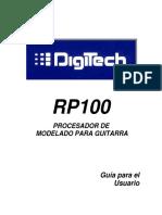 Manual Digitech RP100