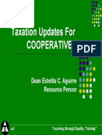 Taxation Updates for Coops