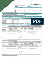 Canara Robeco Mutual Fund - Lumpsum Form