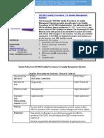 Bizmanualz ISO 9001 QMS Policies and Procedures Sample