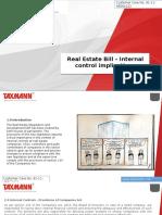 Real Estate Bill - Internal control implications