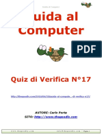 Guida al Computer - Quiz di verifica N°17
