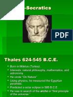 Pre-Socratics to Aristotle