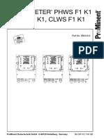 Phws f1k1 Manual