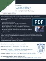 Professor Johannes Zachhuber at St Andrew's