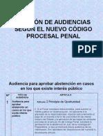 Audiencias en El Nuevo Codigo Procesal Penal (1)
