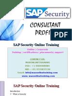 Introduction to SAP Security Online Training @ Maxonlinetraining.com
