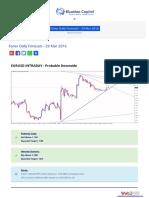 Forex Daily Forecast - 29 Mar 2016 BlueMax Capital