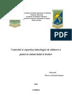 Controlul Si Expertiza Procesului Tehnologic de Obtinere a Painii