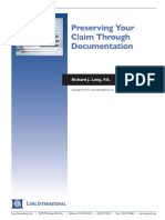 Long Intl Preserving Your Claim Through Documentation