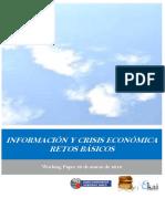 INFORMACION Y CRISIS ECONOMICA. RETOS BASICOS