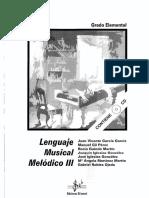 Lenguaje Musical Melodico III-Si Bemol LIBRO