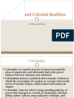 Conflict and Colonial Realities