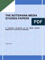 The Botswana Media Studies Papers Vol 3