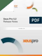 InfoVista Xeus Pro 5 Release Notes