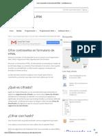 Cifrar contraseñas en formulario de HTML - michelletorres