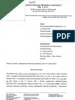 Komunikacja Miejska Łomianki Sp z o. o. Decyzja Nr 4_2015 Odmowa Dip Nt Gazety Łomiankowskiej