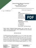 Komunikacja Miejska Łomianki Decyzja Nr 5_2015 Odmowa Dip Nt. Finansowania Gazety Łomiankowskiej