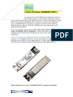 Introducing Cisco S-Class 10GBASE SFP Plus Modules
