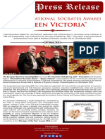 "Proud Moment!  Fiinovation International Socrates Award – Queen Victoria  The European Business Assembly (EBA) honoured Mr. Soumitro Chakraborty, CEO – Fiinovation with the International Socrates Award - ""Queen Victoria"" commendation for his commitment, dedication and achievements in innovative Social Initiative in CSR and Sustainability. The award ceremony was held at the International Achievements Forum held at Institute of Directors, London, United Kingdom on 22nd March 2016."