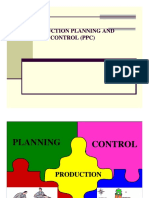Production Planning Control