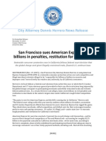 PEOPLE-V-AMEX-01-US SAN FRANSICO SUES AMERICAN EXPRESS;