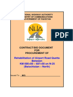 Bid Document Airport Road Quetta