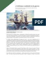 Ningún Barco Boliviano Combatió en La Guerra