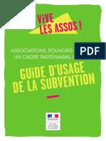 Guide d'usage de la subvention