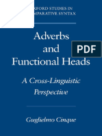 Cinque (1995). Adverbs and Functional Heads