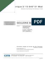 Avis Technique Schoeck Goujons n 3-10-645 01 Mod[5982]