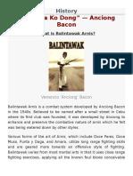 Balintawak History