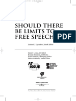 Should There Be Limits to Free Speech Viewpoints