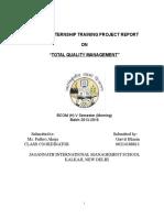Summer Internship Training Project Report