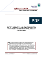 Safety, Security and Environmental Considerations During Pre