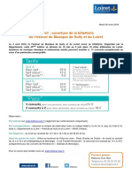 4 Avril 2016 - Ouverture de La Billetterie FDS