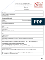 Kings College Application Form