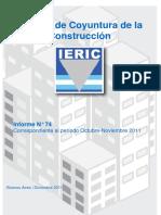 Informe de Coyuntura de la Industria de la Construcción N74