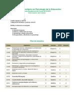 Oferta Academica Psicologia Educacion 15-16