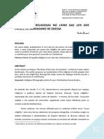 Etnografias Religiosas No 'Livro Das Leis Dos Países' de Bardasano de Edessa