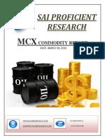 Daily MCX Report-Sai Proficient Research