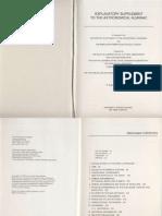 Explanatory Supplement Astronomical Almanac-1992