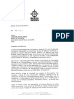 Carta a MinDefensa
