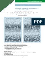 Sensibilidad y Especificidad Del Gammagrama Ciprofloxacino-Tc99M Sensibilidad y Especificidad en Osteomielitis Infantil (AOM 2010)