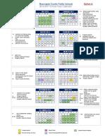 2016-2017 school year calendar option A