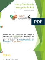 Retos y Obstáculos identificados para la ESSPDF Ppt Foro Bpdc
