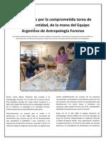 Un recorrido por la comprometida tarea de otorgar identidad, de la mano del Equipo Argentino de Antropología Forense